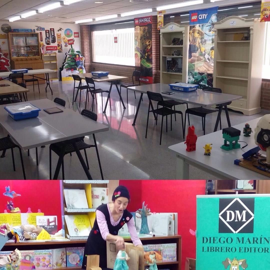 Sbado de actividades en librodiegomarin cuentacuentos y taller de robticahellip
